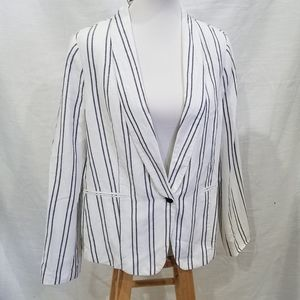 Old Navy Blue & White Striped Blazer